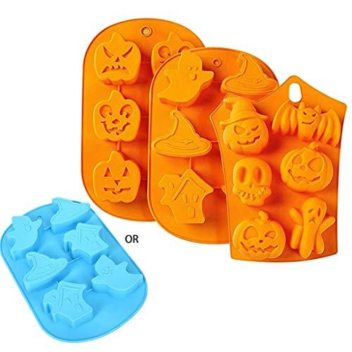 LQH 3 Piezas de Halloween Silicona Formas Moldes Perfecto