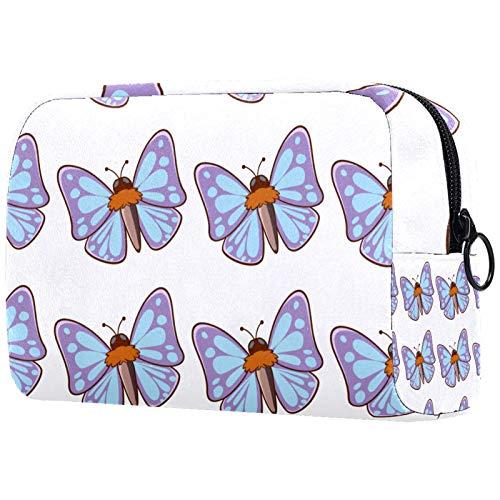 Bolsa de maquillaje portátil con diseño de mariposa, bolsa de cosméticos impresa, bolsa de cosméticos para mujeres, bolsa de viaje, bolsa de maquillaje, bolsa de aseo