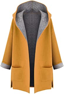LUKEEXIN Winter Coat Women Fashion Trench Long Coat Loose Outwear Female Overcoat Yellow Red Long Sleeve Cardigan Manteau Femme