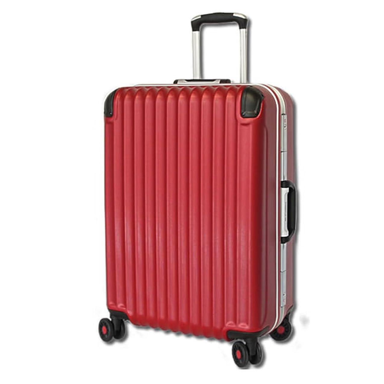 ラフコンパスクラシック[BB-Monsters ビービーモンスターズ] スーツケース 大型 中型 小型 TSAロック搭載 旅行かばん キャリーバッグ 深溝式フレーム Amphisbaena (大型LMサイズ, レッド)