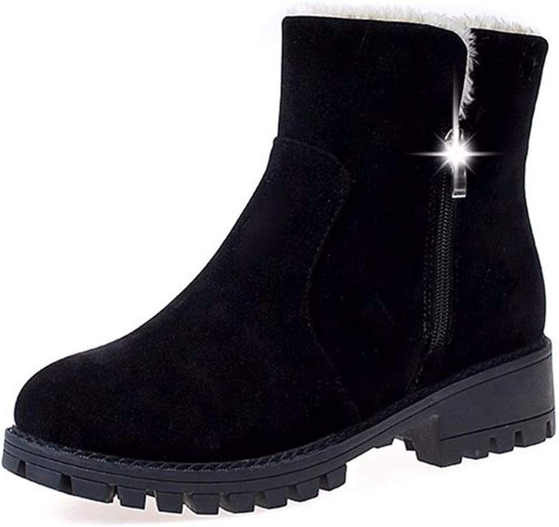 Martin Boots, Korean Version, Short Pile, Two, Wear Antiskid Women's shoes, Keep Warm Winter Cotton Boots.