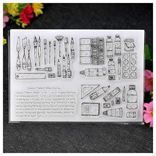Kwan Crafts Herramientas de Pintura Sellos Transparentes para Hacer Tarjetas de decoración y Bricolaje Scrapbooking