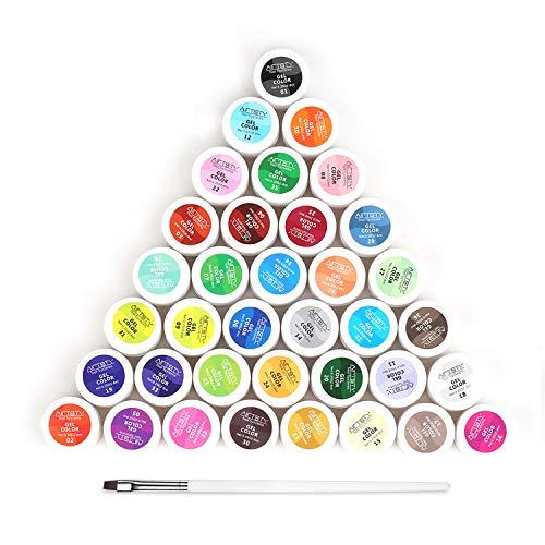 36 Farben UV Gel Nagellack Anself UV farbgel, Gelnägel Farben, Nail Art UV Gel Farbgel, Nagellack Nail Polish für Nail Art Nagel-Design