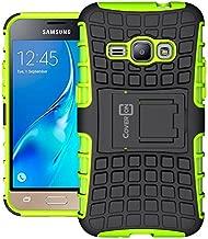Galaxy Express 3 Case, CoverON [Atomic Series] Hybrid Cover Tough Protective Hard Kickstand Phone Case for Samsung Galaxy Express 3 - Neon Green/Black