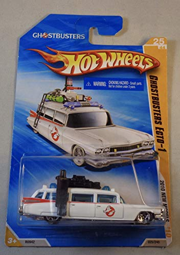HOT WHEELS 2010 NEW MODELS 25 OF 44 GHOSTBUSTERS ECTO-1 WHITE WAGON by Hot Wheels