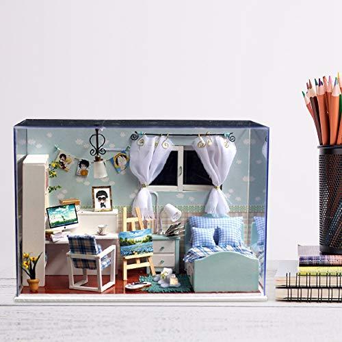Shanbor Erstellen Sie Ihr Haus Mini Möbel Haus Dekoration, Haus, entzückendes Büro für Zuhause