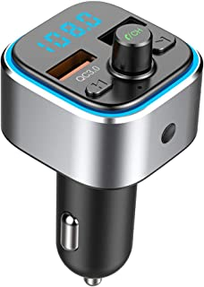 Bluetooth Radio FM Transmitter for Car with Charger Audio Receiver Cigarette Lighter Adapter Music Player Hands Free Car K...