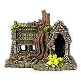 水族館の装飾飾りの家、耐久性のある樹脂非毒性素材中空の安定したデザイン美しい海底世界の隠れ城、家の魚用