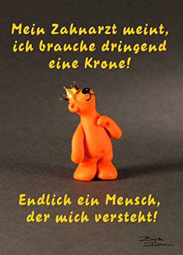 tatzino Postkarte Humor lustig geistreich Mein Zahnarzt meint C6