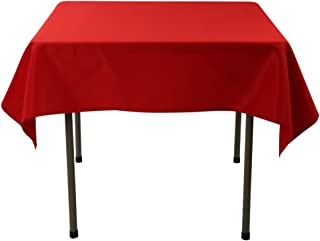 Waysle 52 x 52-Inch Square Tablecloth, 100% Polyester Washable Table Cloth for Square or Round Table, Red
