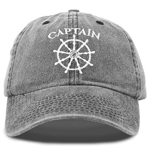 DALIX Captain Hat Sailing Baseball Cap Navy Gift Boating Men Women Black Vintage