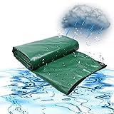 ZGQ Lonas Impermeables Exterior, Verde 16 Mil Pesada Lona con Ojales Resistente Al Desgarro Lavable Reversible Lona Resistente Al Agua Lona De Protección De Espesor,6x4.5ft/2x1.5m