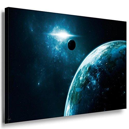 Planet sol Mundo All Lienzo/Lara Art imágenes/multicolor + de impresión W20–cuadro, 100 x 70 cm