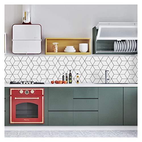 Vinilos Ladrillo Traslados de mosaico de estilo envejecido tradicional Traslados de azulejos Pegatinas Cuarto de baño Cocina Palillo en la pared Peel and Stick Trendy Retro