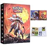 Album Pokemon, Álbum de Cartas Pokémon, Álbum Titular de Tarjetas Pokémon Carpeta Carpeta Libro 30 páginas 240 Tarjetas Capacidad (Dios del Sol)