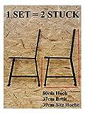Set 2 Stuck 2X Bankbeine Bankkufen Bankgestell Stahl Gartenbank Beine STARK