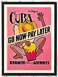 Viaje a Cuba La Habana Pintura en lienzo Cuadros de pared vintage Carteles de paisajes naturales Impresiones de arte de moda Cuadros de decoración del hogar Regalo 40x60cm Sin marco
