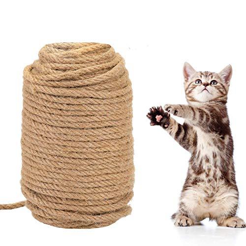 KATELUO Sisalseil,Sisalseil für Kratzbaum,Spielzeug für Katzen,50M Katzenkratz-Hanfseilzubehör zum Schutz von Katzenschleifklauenspielzeugen