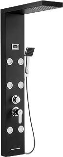 comprar comparacion Auralum - Panel Columna de Hidromasaje Ducha Negro 4 Función con Pantalla LCD Columna Ducha Acero Inoxidable para Baño con...
