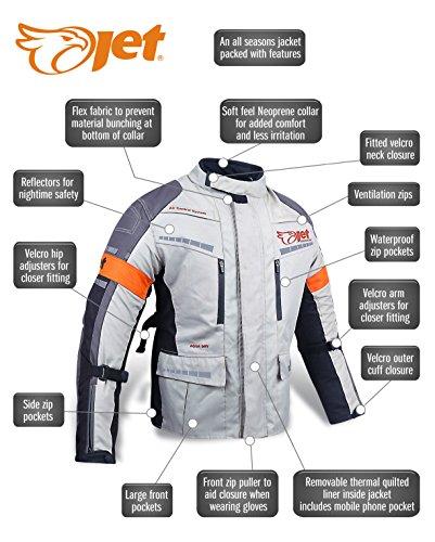 Motorradjacke Textil Wasserdicht Winddicht Mit Protektoren - 2