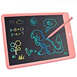 LCD Writing Tablet 10 Inch Colorful Screen Doodle & Drawing Pad, Erasable and Reusable Drawing Tablets, Educational and Learning Toys for 3 4 5 6 7 8 Year Old Boys and Girls(Pink)