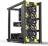 Veddha Grider Case Open-Air Cooling Design PC Gaming Desktop Case