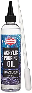 Acrylic Pouring Oil 100% Silicone - Large 8.4 Oz. Size (Includes Pipette)