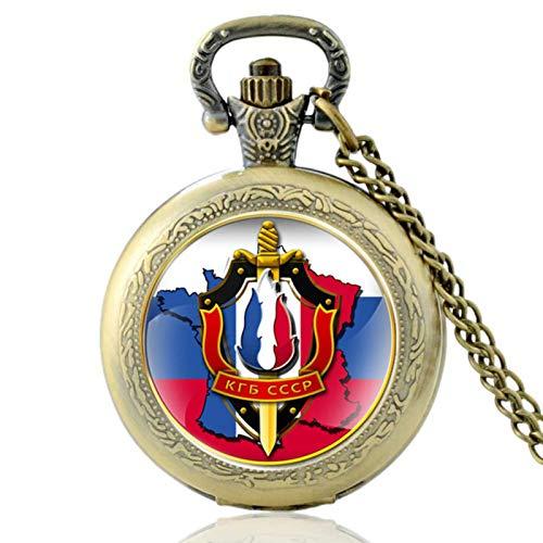 ZDANG Das Komitee der Staatssicherheit Glas Cabochon Vintage Quarz Taschenuhr Männer Frauen CCCP Anhänger Stunden Uhr