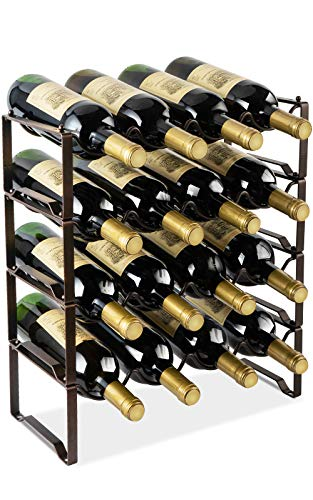 4 bottle metal wine rack - 7