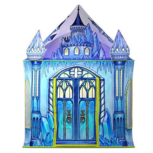 Ice Castle Princess Play Tent | Unique Castle Design for Indoor and Outdoor Fun, Imaginative Games & Gift | Foldable Playhouse Toy + Storage Bag