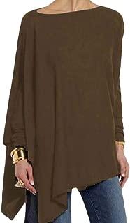 Women's Irregular T-Shirt Loose Tunic Tops Tops T Shirts Fashion Bat Sleeve Shirt Blouses