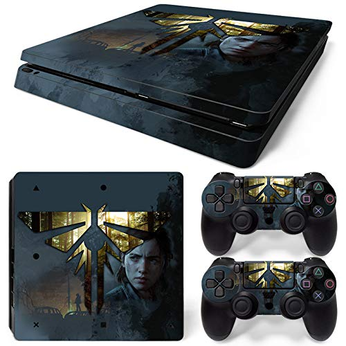 ZOOMHITSKINS PS4 Slim Skins, L.O.U.S Custom Design , High Quality, Durable, Bubble-free Goo-free, Cover Set of 2 Controller Skins 1 Console Skin, Made in USA