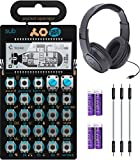 "Teenage Engineering PO-12 Pocket Operator Rhythm Drum Machine Bundle with Samson SR350 Over-Ear Closed-Back Headphones, Blucoil 3-Pack of 7"" Audio Aux Cables, and 4 AAA Batteries"