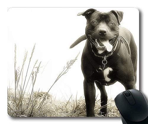 Yanteng Alfombrillas de ratón para Juegos, Perro Pitbull Rottweiler Puppy Dog, Costura de precisión, Alfombrilla de ratón Duradera