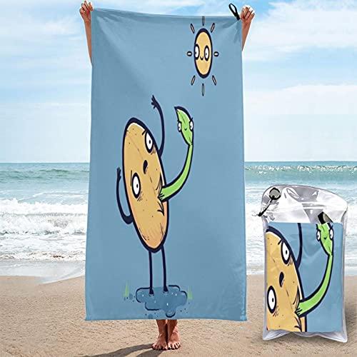 MOBEITI Toalla de baño de Microfibra Ultra Absorbente,Planta germinada y Parodia de Semillas,Gran tamaño de Secado rápido para Surf en la Playa,natación,SPA,Yoga