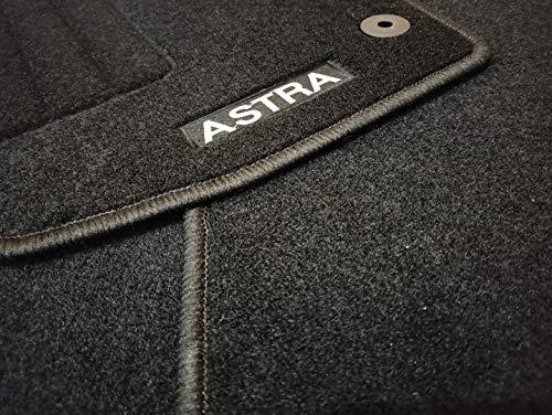 Accesorionline Alfombrillas para Astra H 2004-2009 Todos los Modelos - Juego Completo - alfombras a Medida - Todos los Modelos - Anclajes Originales (Astra H Cabrio 2006-2011 Twintop)