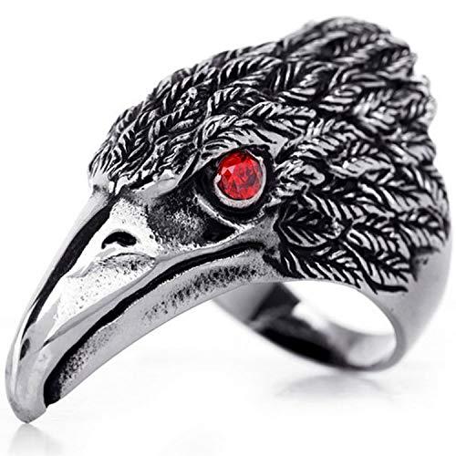 OIDEA b4567Anillo Águila Hombre Acero Inoxidable Compromiso Mosaico