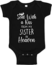 Sent with A Kiss from My Sister in Heaven Baby Bodysuit Infant One Piece
