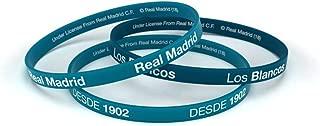 Pulsera Real Madrid Club de Fútbol Classic Azul Turquesa Junior para Mujer y Niño, Pulsera de Silicona, Producto Oficial