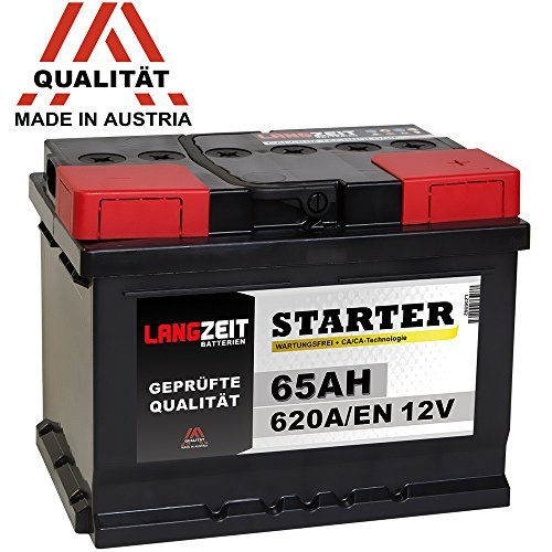 LANGZEIT Autobatterie 12V 65Ah ersetzt 55Ah 56Ah 60Ah 61Ah 62Ah 63Ah 64Ah