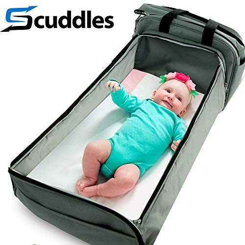 Scuddles 3-1 Portable Bassinet for Baby - Foldable Baby Bed - Travel Bassinet...