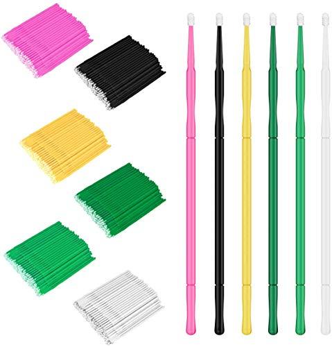 SunshineFace micro pinceaux applicateurs 600 pcs rallonges de maquillage pour cils baguettes multifonctions jetables pour mascara