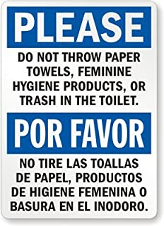 Best do not throw feminine products sign Reviews