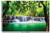 GREAT ART Poster – Wasserfall Feng Shui – (59,4 x 42 cm) Wandbild Dekoration Natur Dschungel...