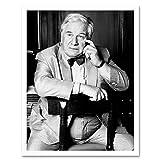 Warren Portrait Actor Peter Ustinov Photo Art Print Framed
