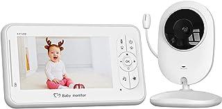 Vigilabebés con Cámara COOAU Bebé Monitor con Pantalla LCD de 4.3 pulgadas y Batería Recargable Conexión Inalámbrica de 2.4 GHz Visión Nocturna Monitoreo de Temperatura Comunicación Bidireccional