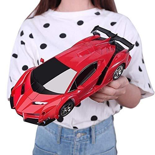 Paelf 2.4 GHz Modelo 1/14 Vehículos de escala RC CAR para niños Transformar vehículos Robot Control remoto Super Cars Juguetes Deformación de un solo botón Y 360 ° Rotating Drifting Light Música MEJOR