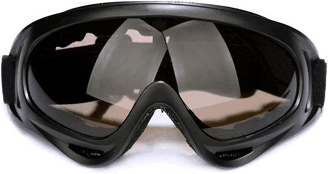 Wzdszuilhxj Gafas Ski, Gafas de Motocicleta, Gafas de Montar al Aire Libre, Gafas de Soldadura Anti-Impacto, Gafas de esquí para Deportes al Aire Libre para Deportes de Nieve (Color : Black)