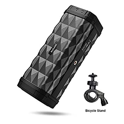 Bluetooth Speakers,M99Portable Bluetooth Speaker 5.0, 100ft Wireless Range, 16w Stereo Sound,Amazing Bass, Built-in Mic,with Stand, Speaker for Home, Outdoors and Travel(Black)