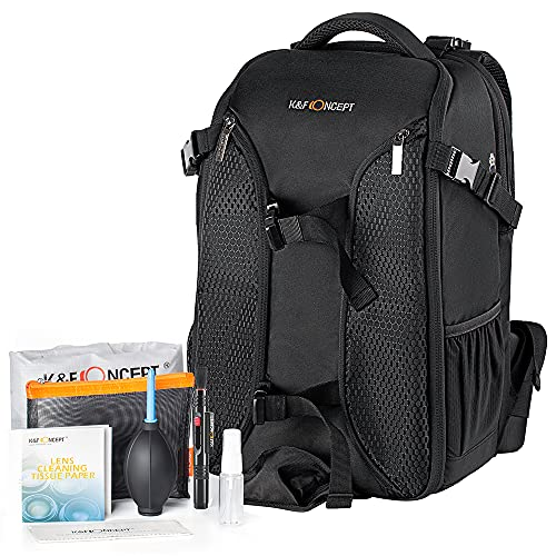 K&F Concept Camera Backpack, Waterproof Anti-theft DSLR Camera Bag With...